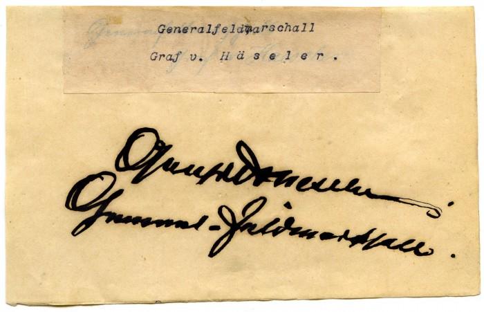 Un maréchal sans commandement, Gottlieb Graf « von der Armee » Haeseler* (I/II)