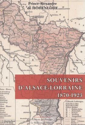 Souvenirs d'Alsace-Lorraine 1870-1923